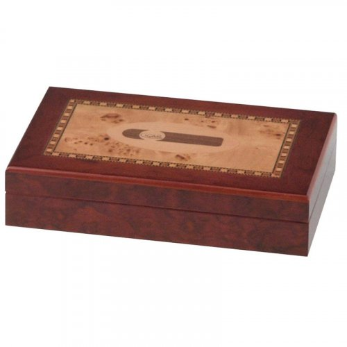 Humidor Cigar Intarsien für ca. 10 Zigarren
