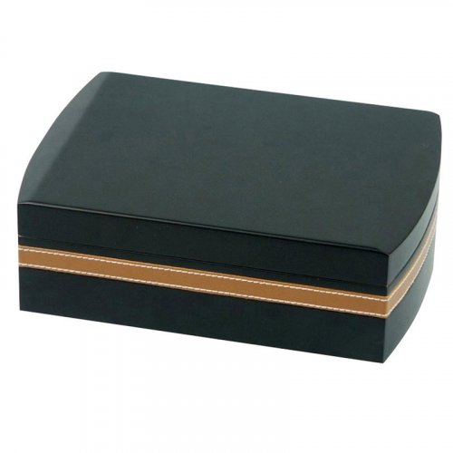 Humidor Set schwarz braun Lederoptik für ca.25 Zigarren