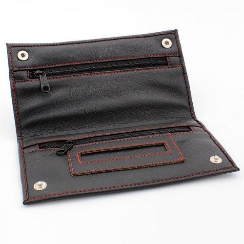 JAM Feinschnitt Tasche Kunstleder schwarz mit roter Naht