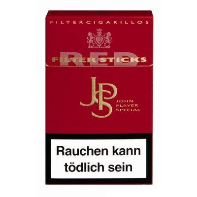 JPS Red Filterzigarillos mit Naturdeckblatt 17er