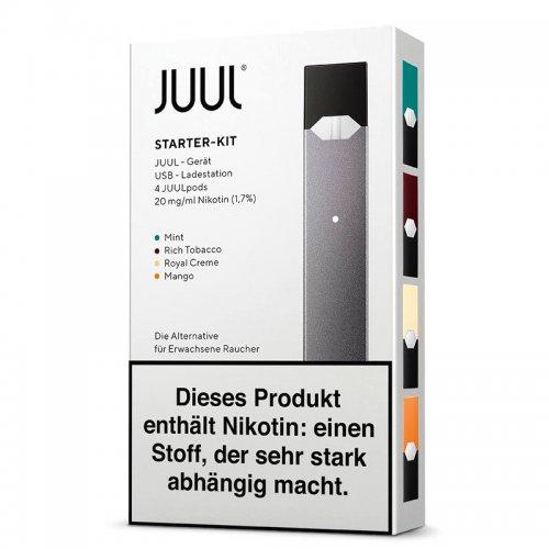 Juul e Zigarette Starter Kit mit 4 Pods 18 mg Nikotin