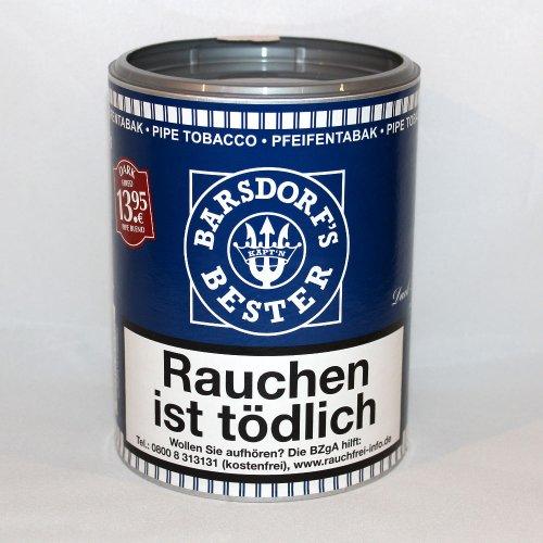 Käptn Barsdorf Bester Pfeifentabak Dark Fired 160g Dose