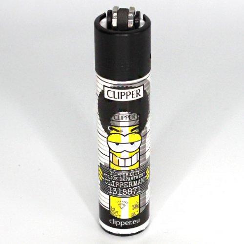Clipper Feuerzeug Clipper Man 1 2v4 mit Afro Frisur