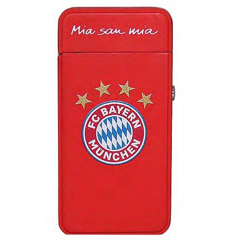 FC Bayern Arc X Feuerzeug Rot mit Gravur beidseitig