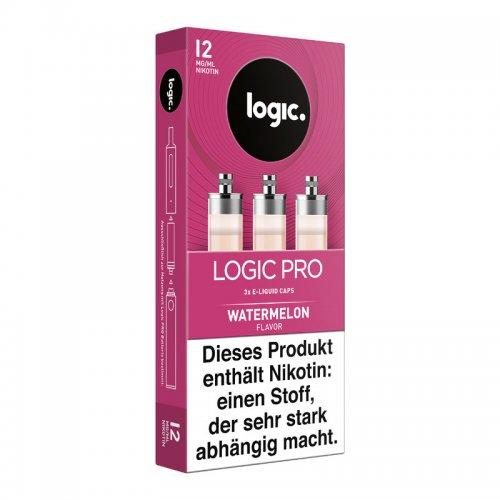 LOGIC PRO Caps Watermelon Liquid-Caps für E-Zigarette Logic Pro 12mg