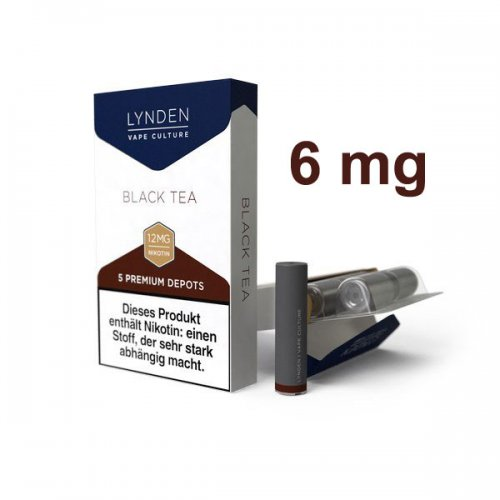 LYNDEN Depots Black Tea Leicht 6 mg Nikotin