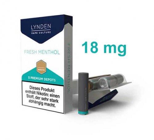 LYNDEN Depots Fresh Menthol Stark 18 mg Nikotin