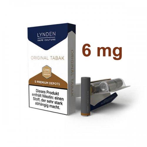LYNDEN Depots Original Tabak Leicht 6 mg Nikotin