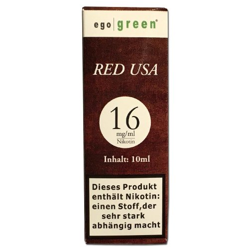Liquid Ego Green Red USA Tobacco 16mg Nikotin