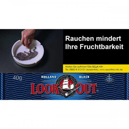 Look Out Tabak Black Zware Shag 50g Päckchen Feinschnitt