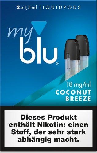 myblu Pods Coconut Breeze 18 mg 2er Pack