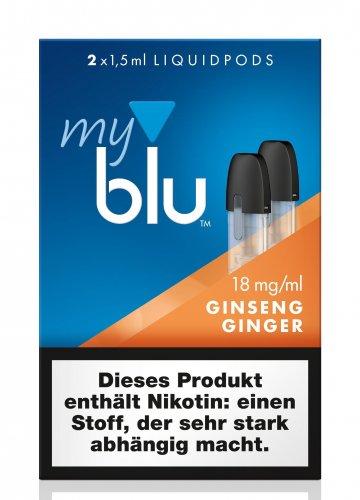 myblu Pods Ginseng Ginger 18 mg 2er Pack