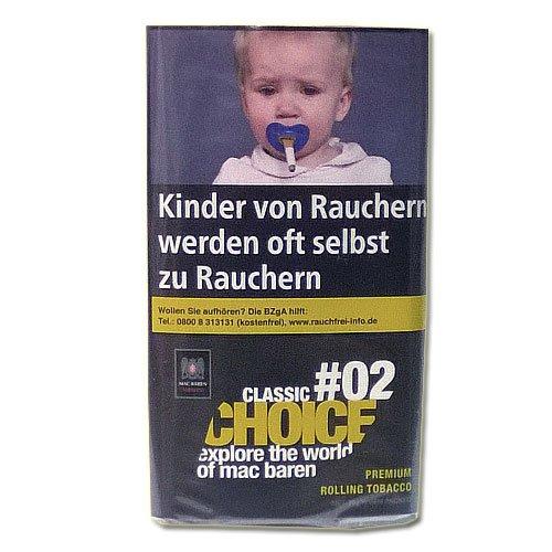 Mac Baren Tabak Choice Classic No.02 - 30g Päckchen Feinschnitt