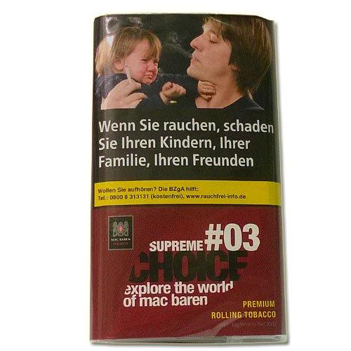 Mac Baren Tabak Choice Supreme No.03 - 30g Päckchen Feinschnitt