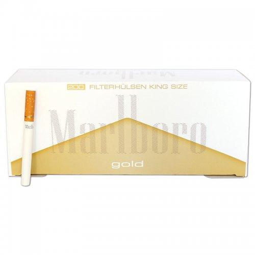 Marlboro Zigarettenhülsen Gold 200 Stück