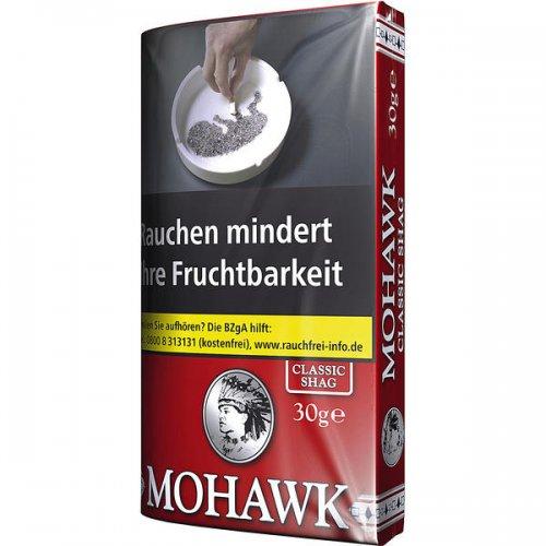 Mohawk Tabak Classic Shag 30g Päckchen Feinschnitt
