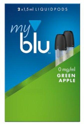 myblu Pods Green Apple 0 mg 2er Pack