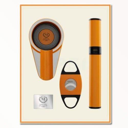 Myon Set - Aschenbecher/Cutter/ Tube Racing Edition Gelb