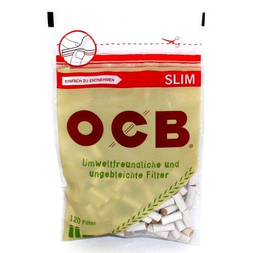 OCB Drehfilter Organic Slim Zigarettenfilter 120 Stück