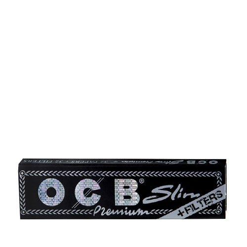 OCB Schwarz Zigarettenpapier Premium Long Slim + Tips