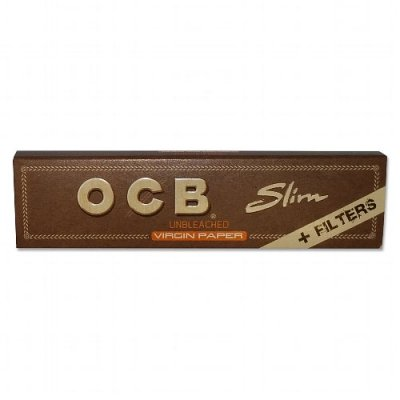 OCB Zigarettenpapier Unbleached Slim Virgin 32 Tips+32 Blättchen