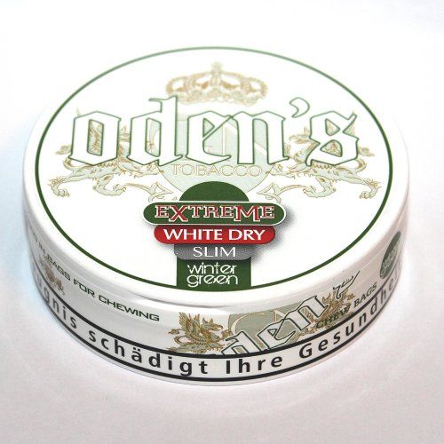 Odens Snus Extreme White Dry SLIM Wintergreen Chewing Bags