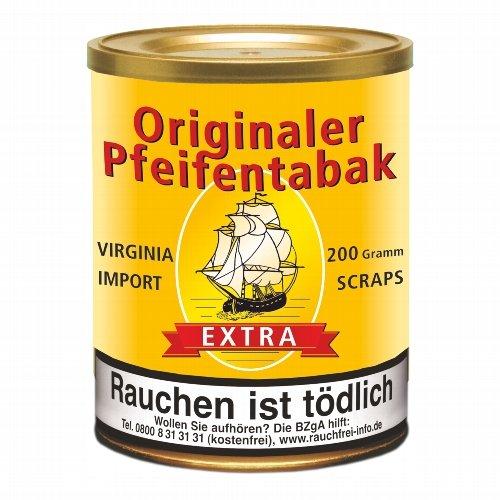 Originaler Pfeifentabak Extra Virginia Scraps 200g Dose