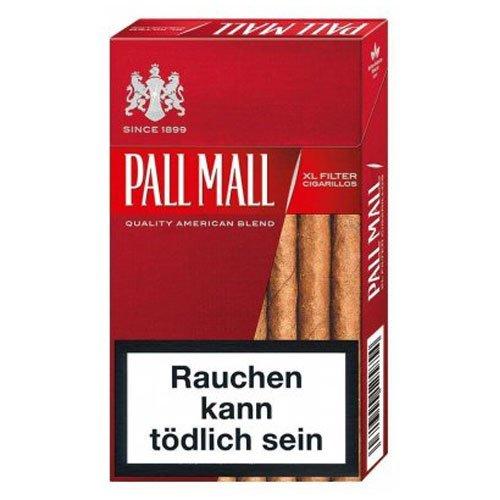 Pall Mall Filterzigarillos XL Rot mit Naturdeckblatt