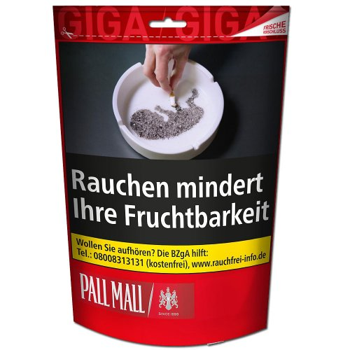 Pall Mall Red Giga 135g Beutel Volumentabak