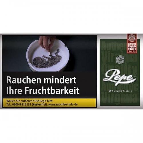 Pepe Tabak ohne Zusatzstoffe Virginia Dark Green Feinschnitt 30g Päckchen