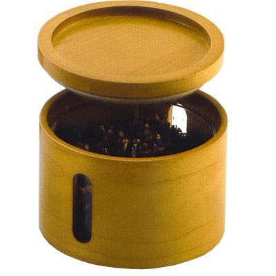 Pfeifentabak-Topf Holz Honigfarben für Pfeifen- und Zigarettentabak