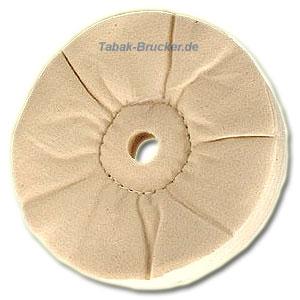 Polierscheiben für Pfeifen - Flanell (3,2cm Spindel)