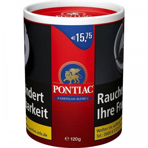 Pontiac Tabak Rot American Blend 120g Dose Feinschnitt