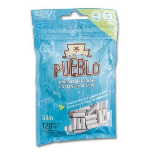 Pueblo Drehfilter Slim Zigarettenfilter 6mm 120 Stück