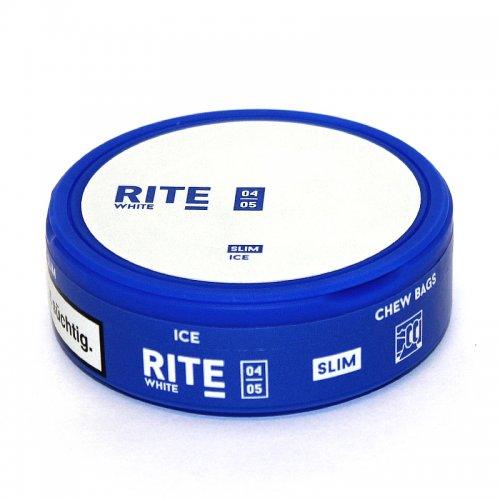 RITE Ice White Slim Chewing Bags Kautabak