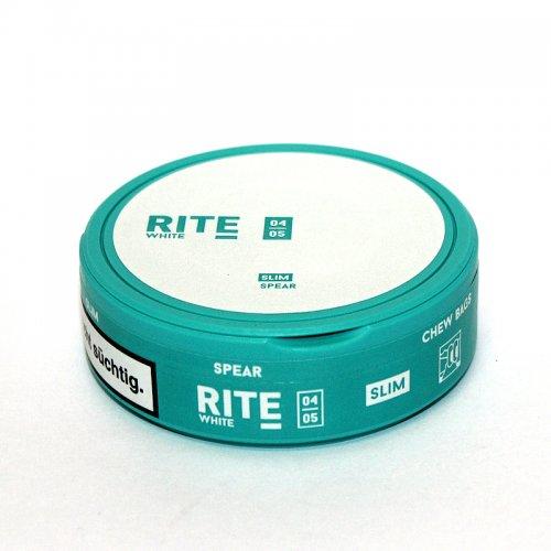 RITE Spear White Slim Chewing Bags Kautabak