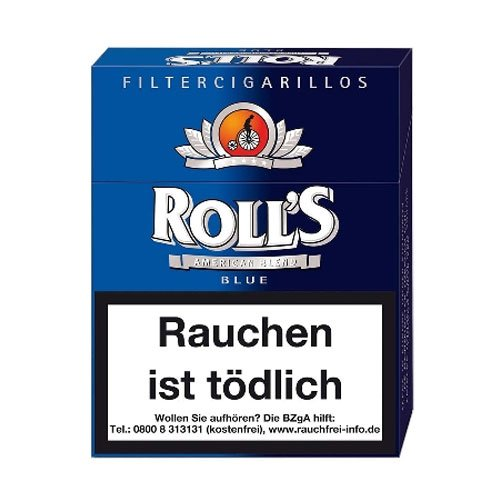 Rolls Filter Cigarillos Blau Full Flavour Big Pack mit Naturdeckblatt