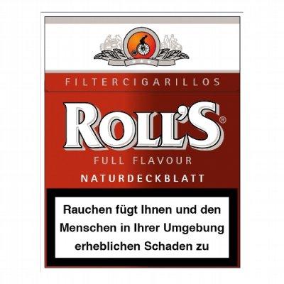 Rolls Filter Cigarillos Rot Naturdeckblatt Full Flavour