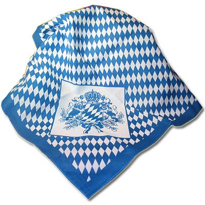 Schnupftuch Raute mit Bayern-Wappen