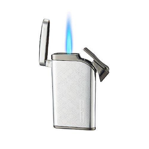 Silver Match Jetflame Silber Anthrazit Superslim Feuerzeug