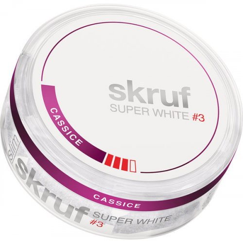 Skruf Super White #3 Cassis Slim Nicopods