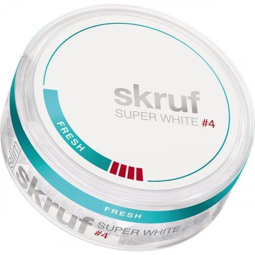 Skruf Super White #4 Fresh Slim Nicopods
