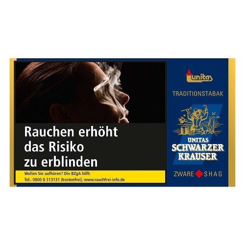 Unitas Schwarzer Krauser Tabak 30g Päckchen Feinschnitt