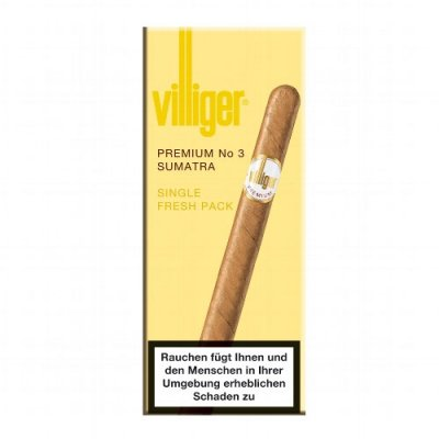 Villiger Premium No 3 Sumatra Zigarren 5 Stück