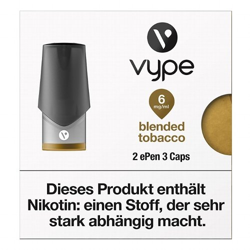 Vype ePen3 Caps Blended Tobacco 6mg