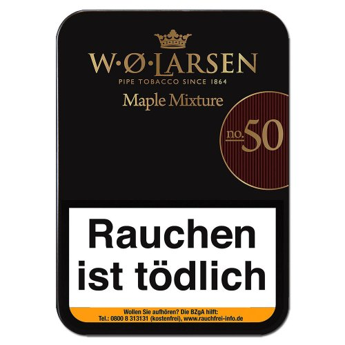 W. O. Larsen Maple Mixture No. 50 Pfeifentabak 100g Dose
