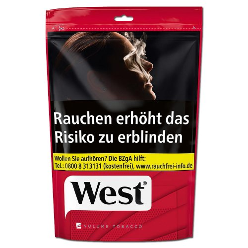 West Red Tabak 134g Beutel Volumentabak