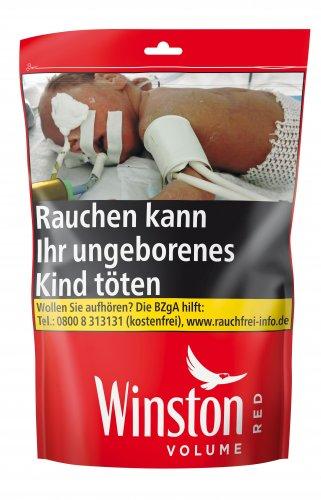 Winston Tabak Rot 135g Beutel Volumentabak