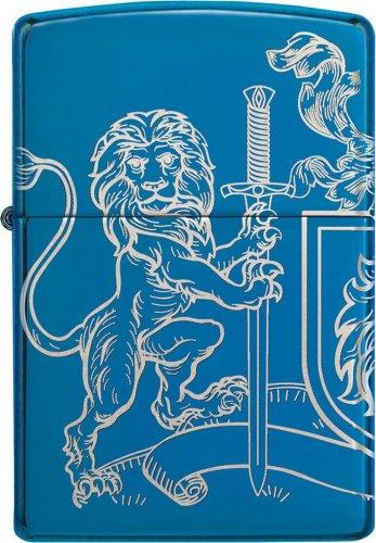 ZIPPO Indigo blau Medival Lion and Sword
