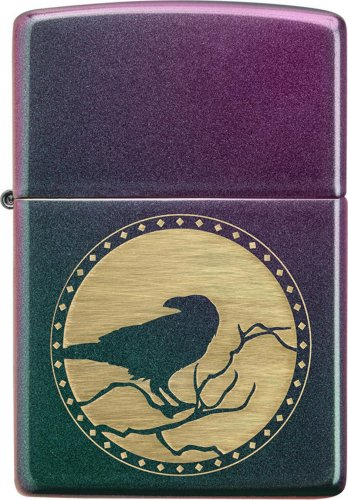 ZIPPO Iridescent gelasert Raven
